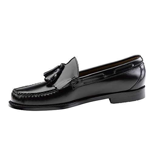 Gh Bass & Co. Mens Weejuns Layton Robe Kiltie Gland Loafer Chaussure Noir