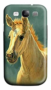 Cool Art Dun Colt Portrait Hard Plastic Back 3D Case Cover for Samsung Galaxy S3 I9300 (526 art) _626041 by icecream design