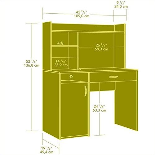 042666111553 - Sauder Beginnings Desk with Hutch, Cinnamon Cherry Finish carousel main 2