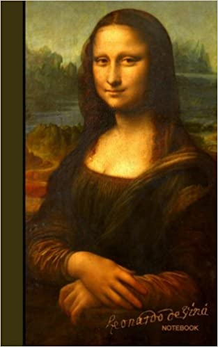 leonardo da vinci notebook mona lisa la joconde la gioconda journal cuaderno portable gift signature series