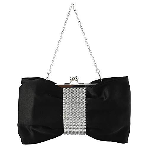INSOUR - Bolso de mano para dama de honor, diseño de lazo, para bodas, banquetes, fiestas, bailes