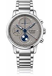 Eterna Men's Tangaroa Automatic Chronograph Stainless Steel Grey Dial