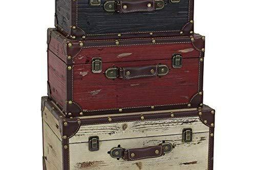 Aspire Torrance Wood Trunks (Set of 3), Black/White/Red by Aspire