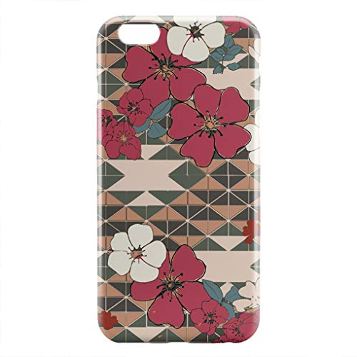 ZHIQCH iPhone 6/6s Plus case Prairie Rose Navajo Slim Fit Hard Plastic Cover Cases Full Protective Anti-Scratch Resistant Compatible iPhone 6/6s Plus - Prairie Rose Cup