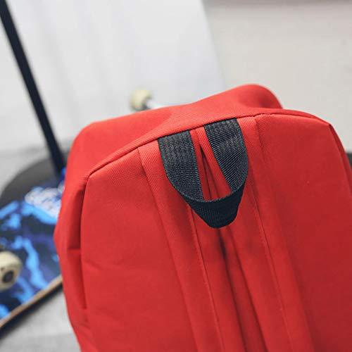 Bolsa Sylar Viaje Moda Sólido Mochilas tendencia Color Cremallera De Rojo Mochila Impresión Multifuncional Mujer Bolso Escuela Personalidad 0xd6ZrxnX