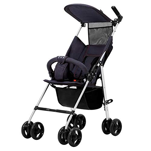 Portable Pushchairs & Prams Folding Lightweight Baby Stroller - Smallest Compact Stroller Airplane Travel,Compact Storage, Easy 1 Hand Fold,b
