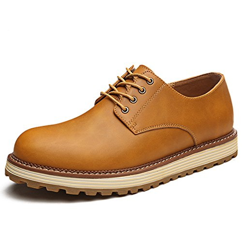 Mens casual leather shoes,yellow,Thirty-nine Dance Shoes
