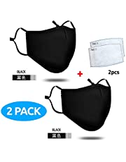 Adult 4 Layers Cotton Face Mask - Washable, Reusable, Breathable, Windproof, Dustproof mask for skiing, snowboarding, autumn and winter cold protection, motorcycle mask, etc