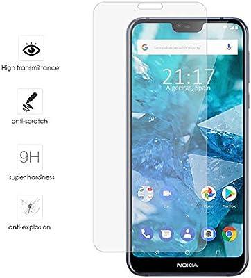Tumundosmartphone Protector Cristal Templado para Nokia 7.1 Vidrio ...
