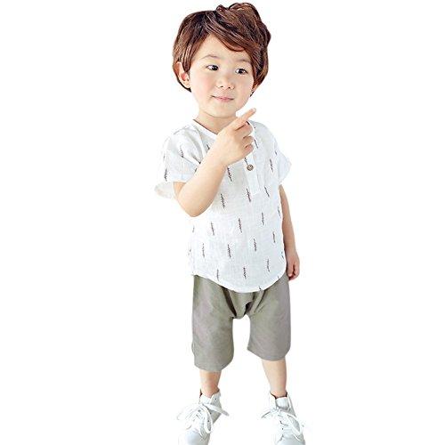 Wenasi Kids Boy Cotton Summer Short T-Shirt + Short Pants 2 Pcs Outfit Set