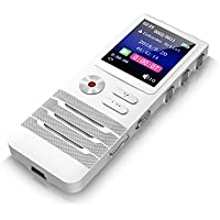 Digital Voice Activated Recorder with Double Microphone, Dansrueus 8GB Digital Audio Voice Recorder with MP3 Player, Noise Cancelling Dictaphone Recorder for Lectures Meetings Interviews