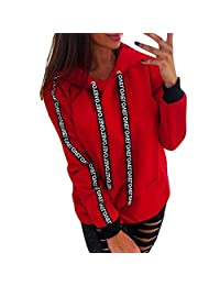 Staron  Women's Plus Size Hoodies Sweatshirts Long Sleeve Hooded Tunic Pullover Tops