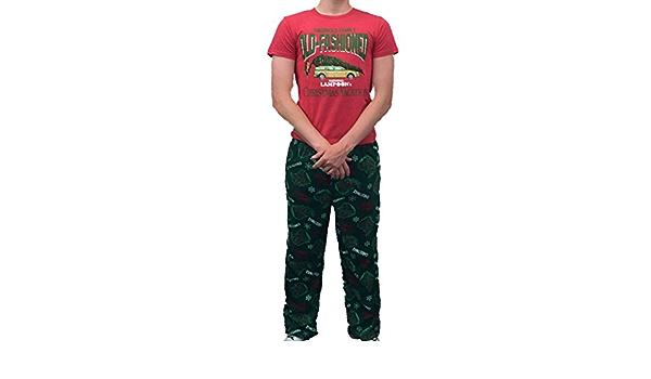 Christmas Vacation Mens Griswold Sleep Set Fleece Lounge Pants T Shirt Pajamas At Amazon Men S Clothing Store