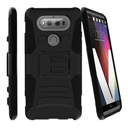 MINITURTLE Case Compatible w/ [LG V20] Custom Case [Customizable by Buyers][Create Your Own Phone Case] Rugged Dual Layer Case w/ Clip on Black 60%OFF