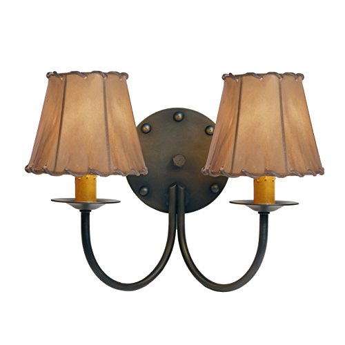 Steel Partners Lighting Sconce  Rivets Double