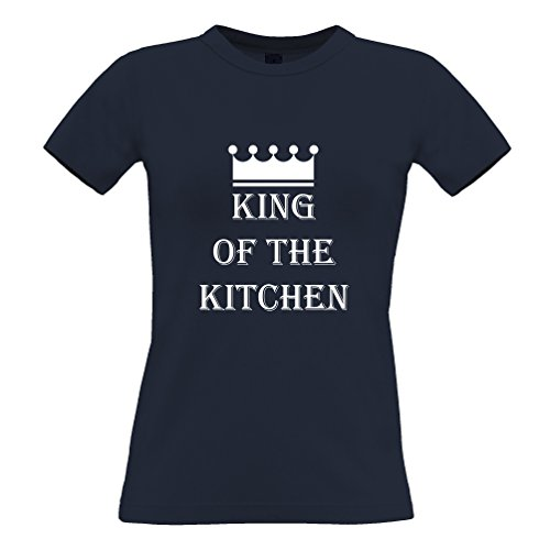 King Of The cucina Camera Cooking Chef Cook divertente Slogan T-Shirt Da Donna