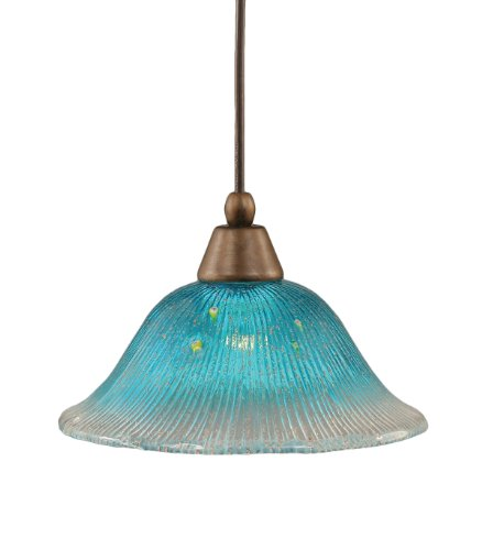 Teal Blue Pendant Light in US - 5