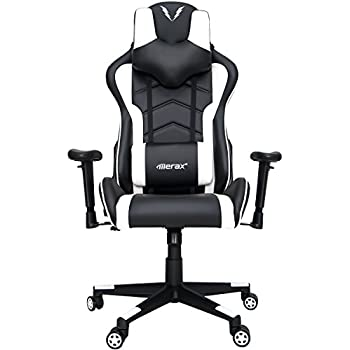 Merax U-Knight Series Racing Style Gaming Chair Ergonomic High Back PU Leather (White)
