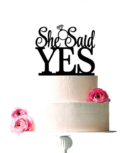 [USA-SALES] She Said Yes Cake Topper, Bridal Shower,
