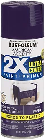 Rust-Oleum 327899-6 PK American Accents Spray Paint, Gloss Purple