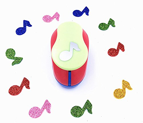TECH-P Creative Life Multi-pattern Hand Press Album Cards Paper Craft Punch,card Scrapbooking Engraving Kid Cut DIY Handmade Hole Puncher,Mini Paper Craft Punch. (Music)