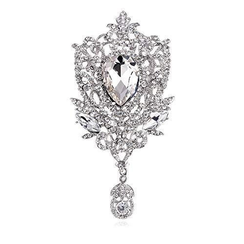 (URUHR Fashion Diamond Brooch Craft Jewelry Glass Brooch Pendant for Women Girls Brooches -210)