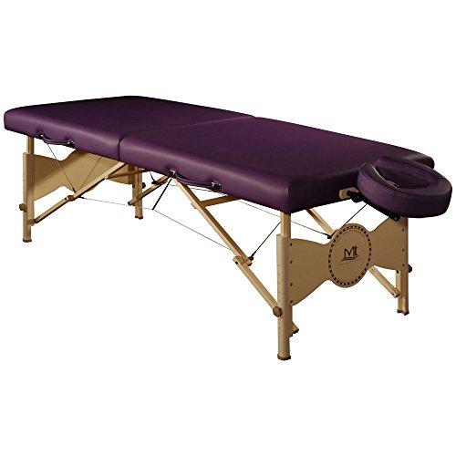 Adjustable 30' Slide Bar - Mt Massage Midas Standard 30'' Professional Portable Massage Table Package( Purple)