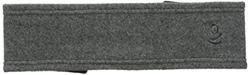 Cuddl Duds Women's Reversible Fleece and Jersey Headband, Charcoal Heather, One Size