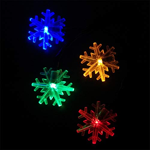 BGFHDSD Solar Power Snowflake Garden String Lights Christmas Wedding Party Holiday Decoration Lamp Copos Luces Nieve Jardin Blue 10m 60leds by BGFHDSD