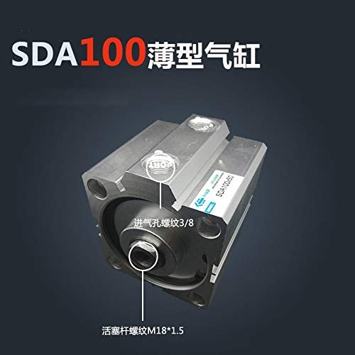 JIAIIO SDA10060-S 100mm Bore 60mm Stroke Compact Air Cylinders SDA100X60-S Dual Action Air Pneumatic Cylinder