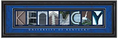 Prints Charming Letter Art Framed Print, U of Kentucky-Kentucky, Bold Color Border
