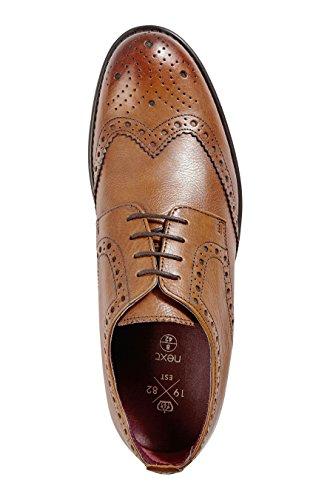 next Hombre Zapatos De Vestir Estilo Brogue Derby De Piel Inglesas Bronceado