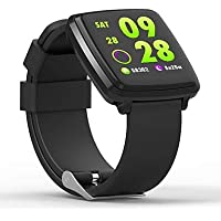 Opta SB-064 Aluminium Heart Rate Monitor Smart Watch (Black)