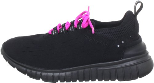 Duflex Trainer schwarz/brombeer - Zapatillas De Deporte Para Exterior de material sintético unisex, color negro, talla 35/36 CHUNG SHI