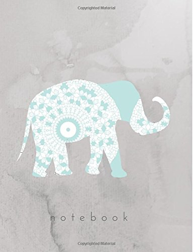 Notebook  Elephant Notebook  Composition Book  Journal  Back To School  Wide Ruled Lined 8 5X11 For Students  Kids  Teachers  Notes  Grey Blue Elephant Notebook  Back To School Series   Volume 5