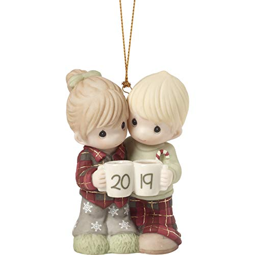 Precious Moments First Christmas Together 2019 Dated Bisque Porcelain Couple 191004 Ornament, One Size, Multi (Hallmark Ornament First Christmas)