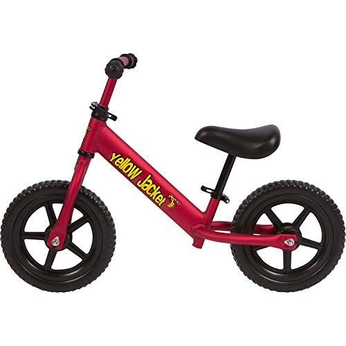Yellow Jacket Kids Balance Bike - Glider Push Bike for Kids, Toddlers Ages 2, 3, 4 & 5 Years Old Boys and Girls, No Pedal Control Walking Bicycle - Ultra Lightweight, Red