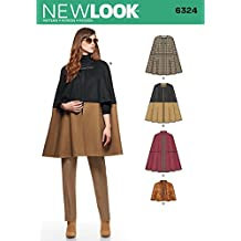 NEW LOOK 6324 Misses' Cape in Two Lengths, Size: A (XS-S-M-L-XL)