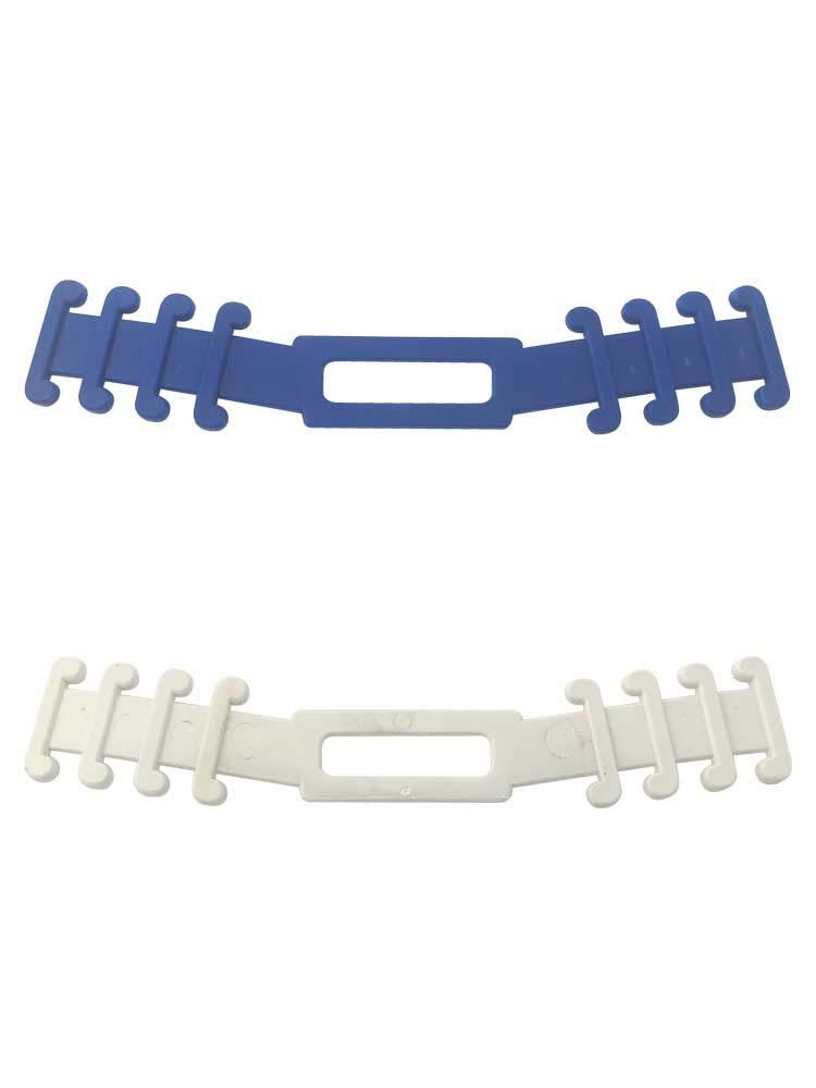 5 piezas de sujeta mascarillas salvaorejas o extensión de correa para mascarilla, previene el dolor de oído,accesorios en color en blanco y azul. (Azul)