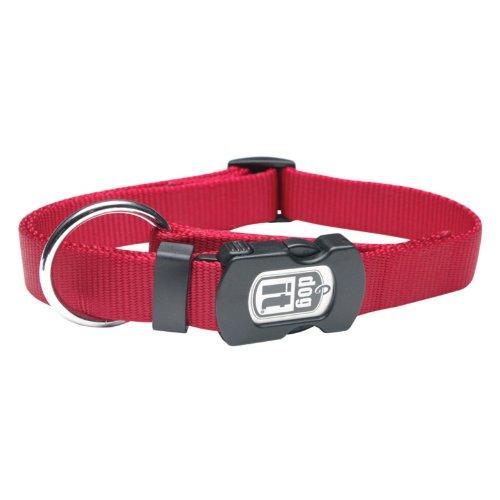 Dogit Nylon Adjustable Single Ply Dog Collar with Plastic Snap, Large, 3/4-Inch, Purple (Collar Single Dog Nylon Ply)