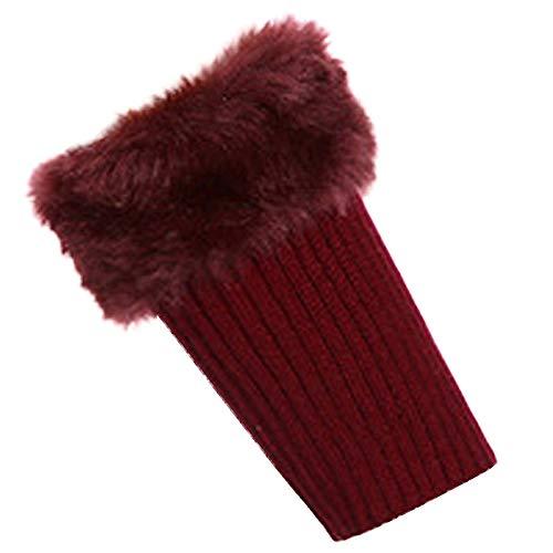 SMTSMT_socks Women's Plush Knit Winter Socks Warm Knit Leg Warmers Crochet Leggings Slouch Boot Socks