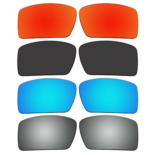 4 Pair Replacement Polarized Lenses for Oakley Eyepatch 2 Sunglasses Pack - 2 Lenses Polarized Eyepatch
