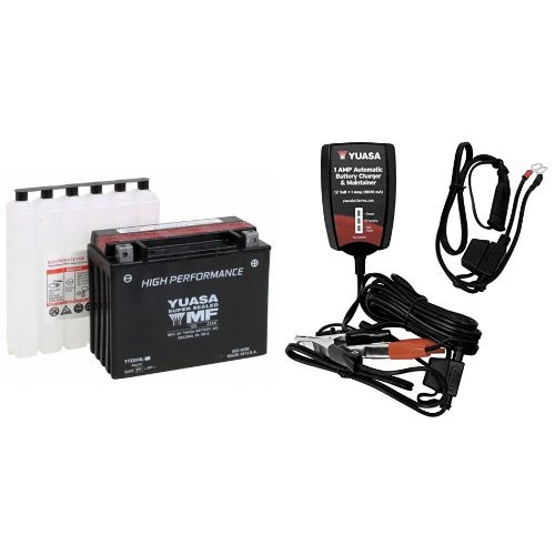 YUASA YUAM6250H YTX24HL-BS Battery and Automatic Charger ...
