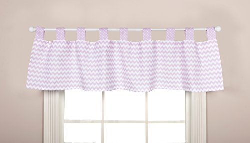Trend Lab Orchid Bloom Window Valance, Purple by Trend Lab