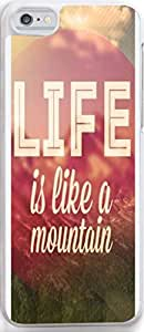 Case for Iphone,Dseason Iphone 5C Hard Case **NEW** High Quality Unique Design christian quotes life is eike a mountain