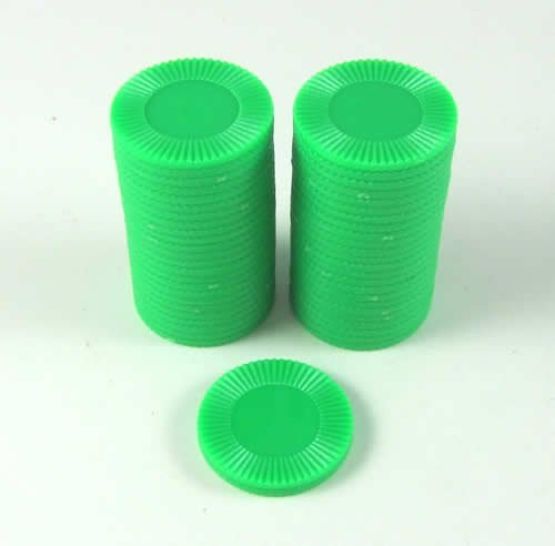 Cheapest Price! Koplow Games Set of 50 7/8 Easy Stacking Plastic Mini Playing Poker Chips - Green