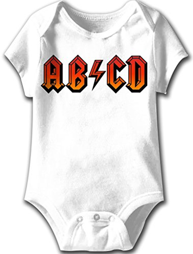 ABCD Funny Romper Infant White Baby Creeper, White, 6 Months -