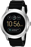 Fossil Q Founder Gen 2 Touchscreen Black Silicone Stainless Steel Smartwatch
