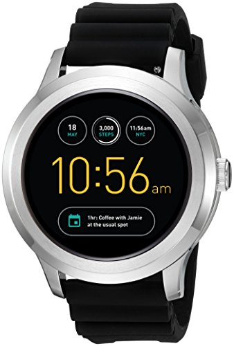 Fossil Q Founder Gen 2 Black Silicone Touchscreen Smartwatch FTW2118