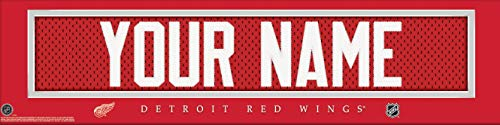 Detroit Red Wings NHL Jersey Nameplate Wall Print, Personalized Gift, Boy's Room Decor 6x22 Unframed Poster